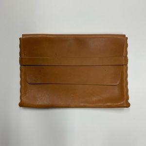 """Billy Kirk Veg Tan Leather Laptop Sleeve 13"""" RARE"""